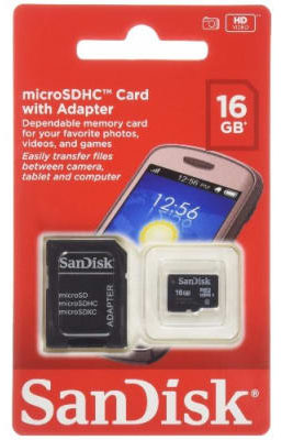 Sandisk Micro SD Card 16Gb