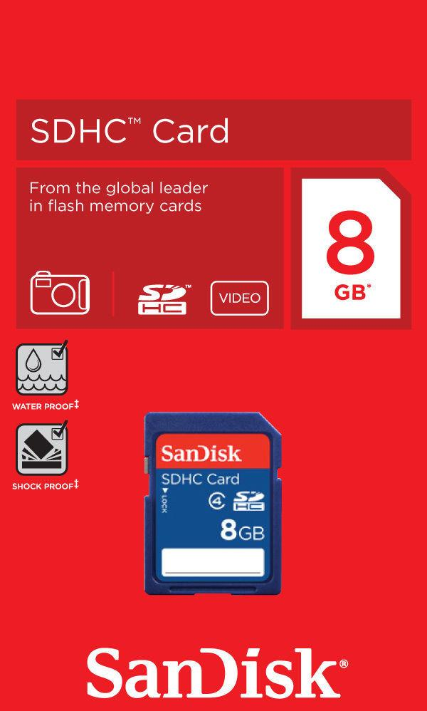 Sandisk SD Card 8Gb