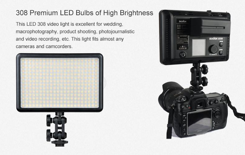 promo code 2c589 ee0e3 Godox Led Video Light, Led 308ii